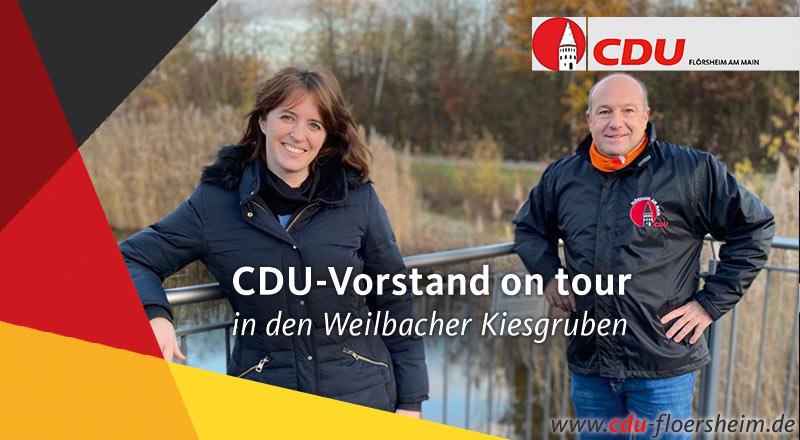CDU-Vorstand on Tour in den Weilbacher Kiesgruben