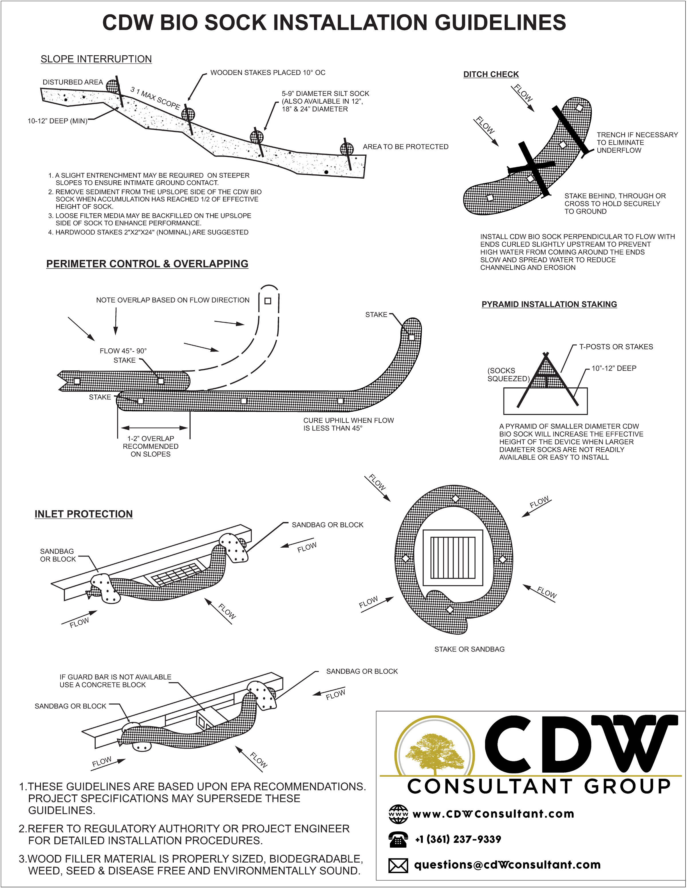 biosock install instructions cdw