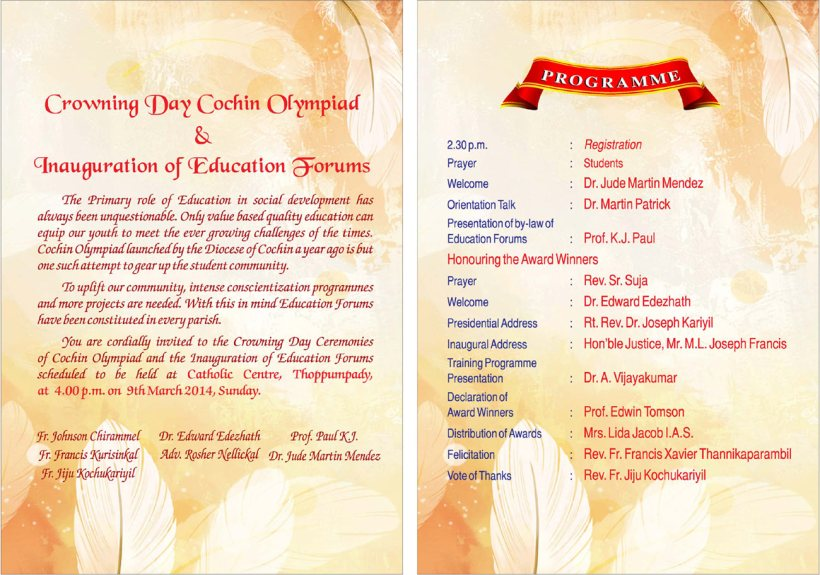 View The Invitation Programme Details Hearty Welcome To All