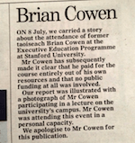 Mail apology to Cowen, via @davidcochrane