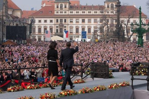 President Obama delivers his anti-nuclear speech in Prague, Czech Republic