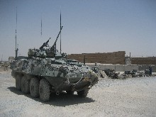 A LAV in Afghanistan, similar to the ones to be purchased by the Canadian military