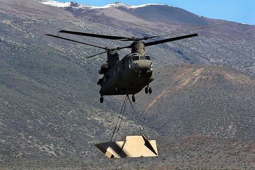 A Chinook Helicopter similar to those recently purchased by the Canadian military