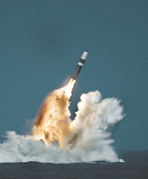Test launch of a Trident II submarine launched ballistic missile