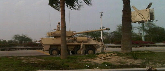 Canadian-made Saudi armoured vehicle intervenes against democracy protesters in Bahrain