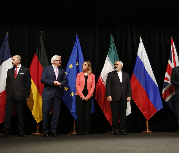 Nuclear negotiations with Iran in Vienna, Austria on July 14th, 2015.