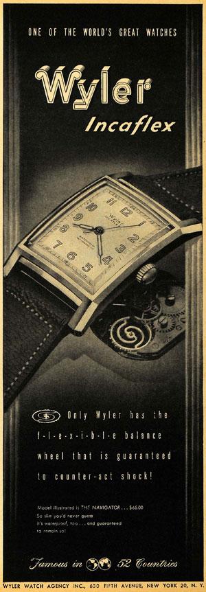 reclama Wyler - Incaflex   1947