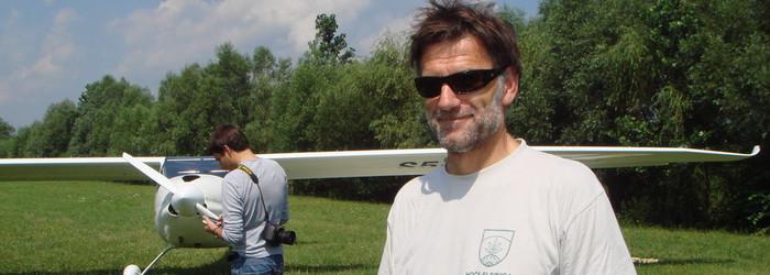 Pilot Matevž Lenarčič in Pipistrel