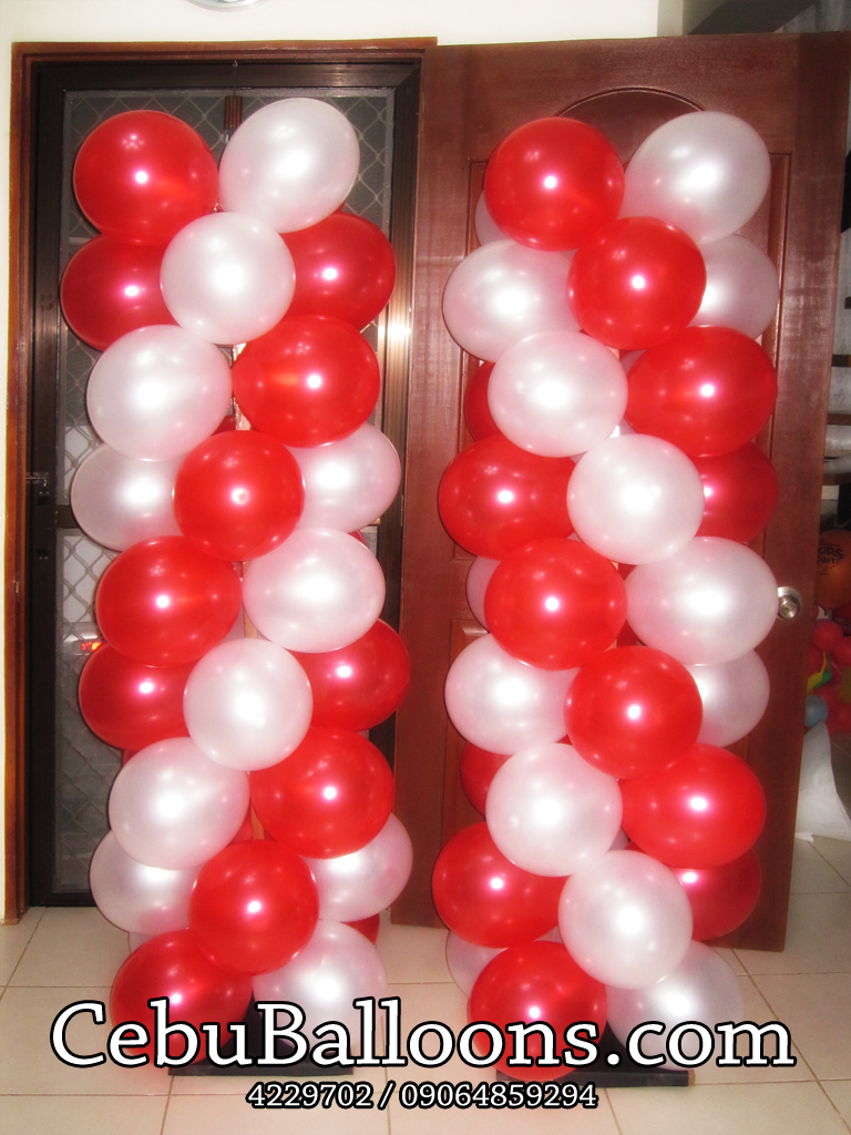 4ft Column Green With Long Balloons Cebu Balloons And