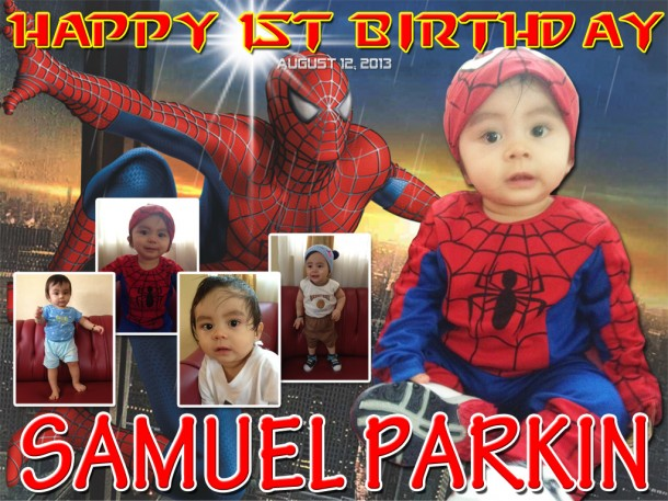 Grace Samuel Parkin's Spiderman Tarpaulin Design Cebu