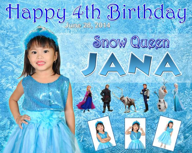 Jana's 4th Birthday Snow Queen Frozen Cebu Balloons