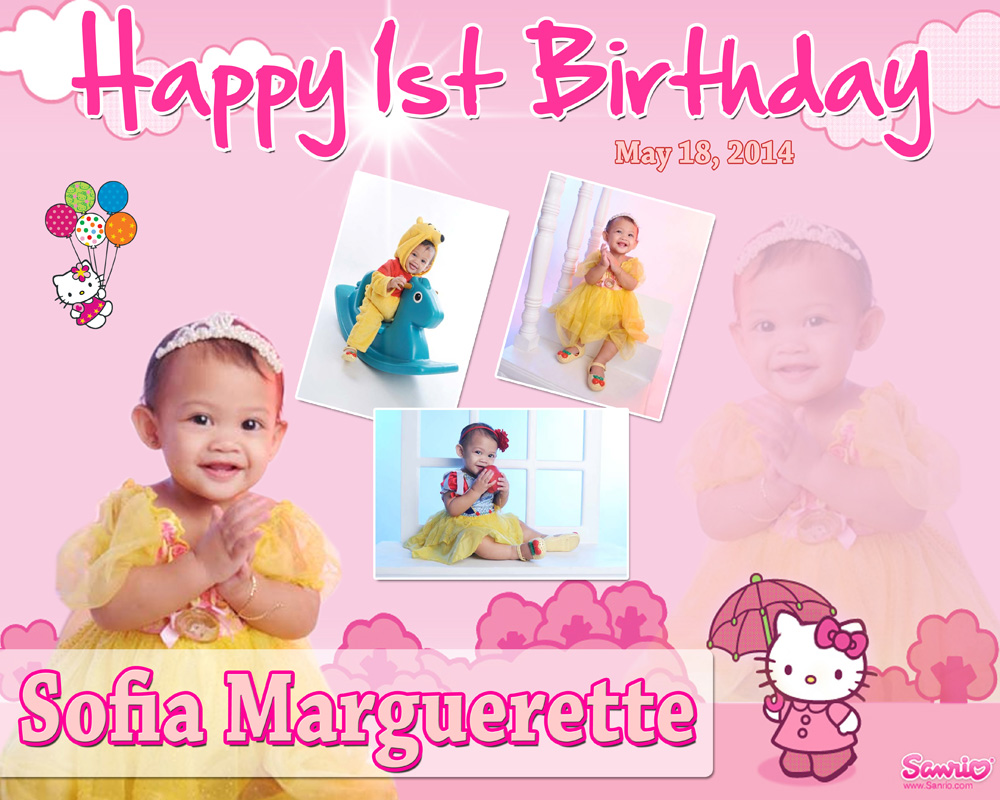 Sofia Marguerette's 1st Birthday Hello Kitty Cebu