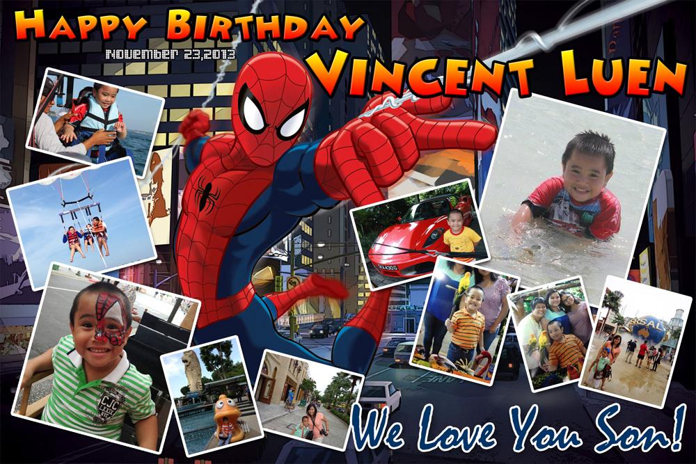 Vincent Luen's Spiderman Birthday Cebu Balloons And