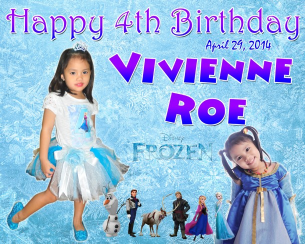 Vivienne Roe's 4th Birthday Disney Frozen Cebu