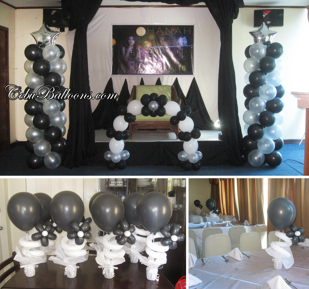 Pink  Silver Cake Arch  Cebu Balloons and Party Supplies