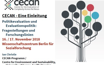 CECAN Presentation at the Political Evaluation and Evaluation Politics Questions and Research Lines Conference in Berlin