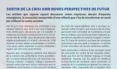 """ADHESIÓ AL MANIFEST """"SORTIR DE LA CRISI AMB NOVES PERSPECTIVES DE FUTUR"""""""