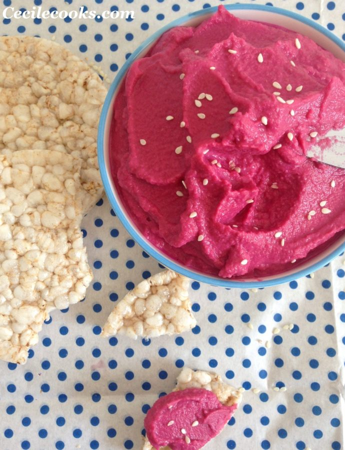 Houmous de betteraves rouges