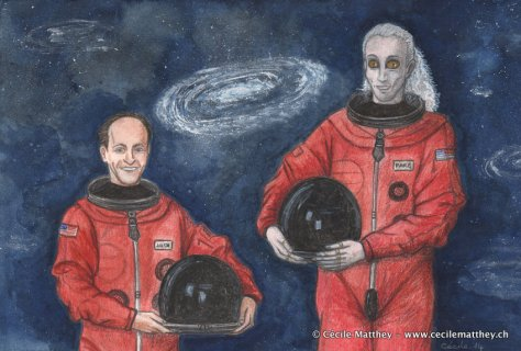 Illustration pour « The Man Who Watched the Stars » de Carol Holland March  (webzine « The Future Fire, 2014)