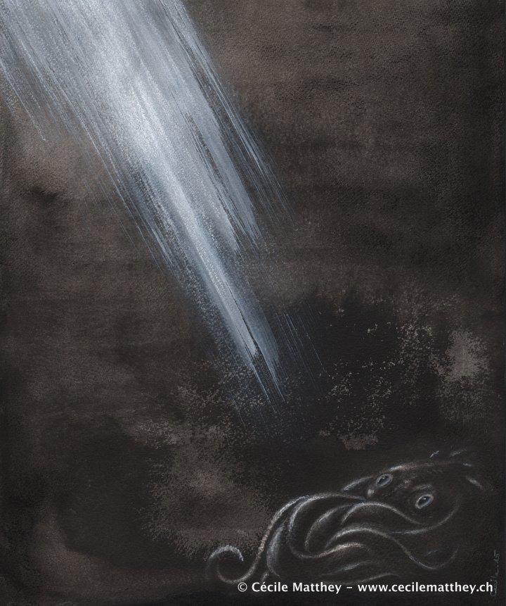 "Illustration pour ""Bright hunters"" de Belinda Draper   (webzine ""The Future Fire"", 2015)"