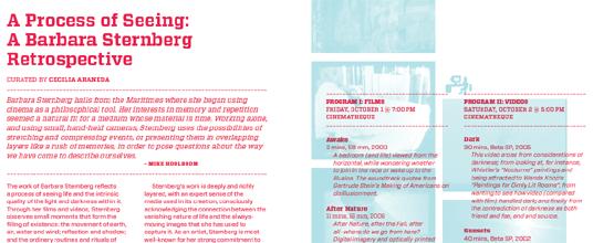 A Process of Seeing: A Barbara Sternberg Retrospective