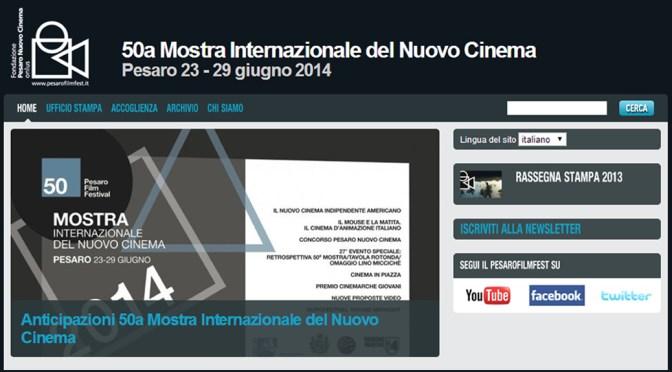 Presque Vu to Screen in Pesaro, Italy