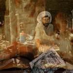 escena desoladora de la Biblioteca de Bagdad