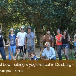 Traditional Wooden Longbow Making and Retreat in Duisburg Germany