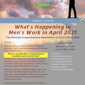 Cecil's Men's Hub Newsletter ~ Volume 3, Issue 34