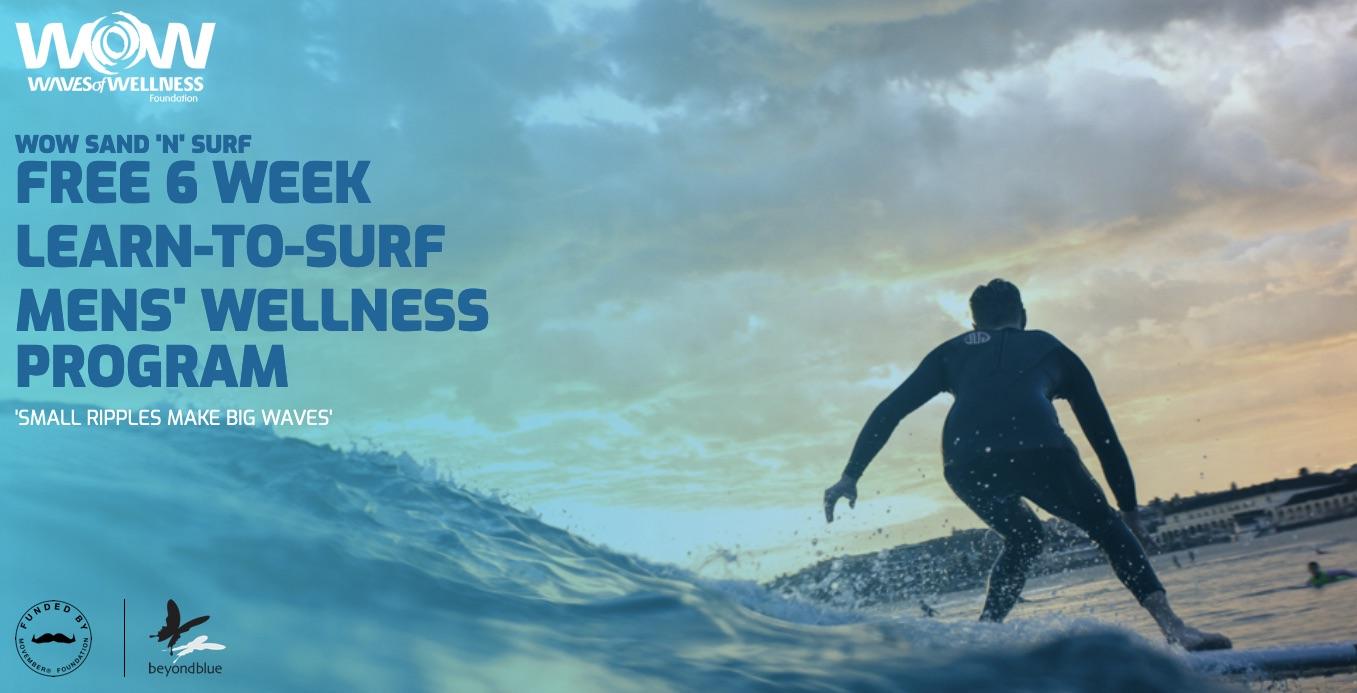 Learn to Surf Men's Wellness Program