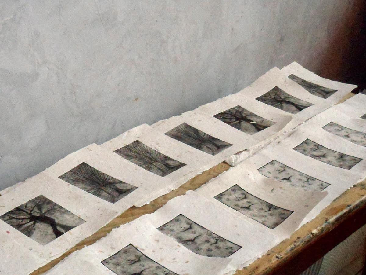 gravure en sechage
