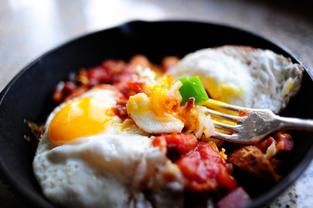 Eggberts Sunriser in Mini Cast Iron Skillets (from The Pioneer Woman)