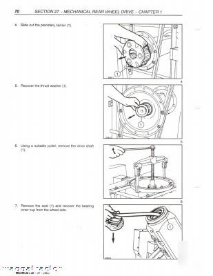 New holland nh TM115 thru TM165 tractor workshop manual