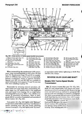 Massey ferguson 340 thru 399 tractor workshop manual
