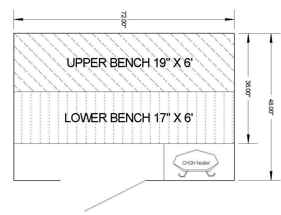 4' x 6' Complete Sauna Room Package