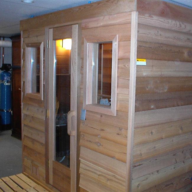 5x6 Home Sauna Kit  Heater  Accessories