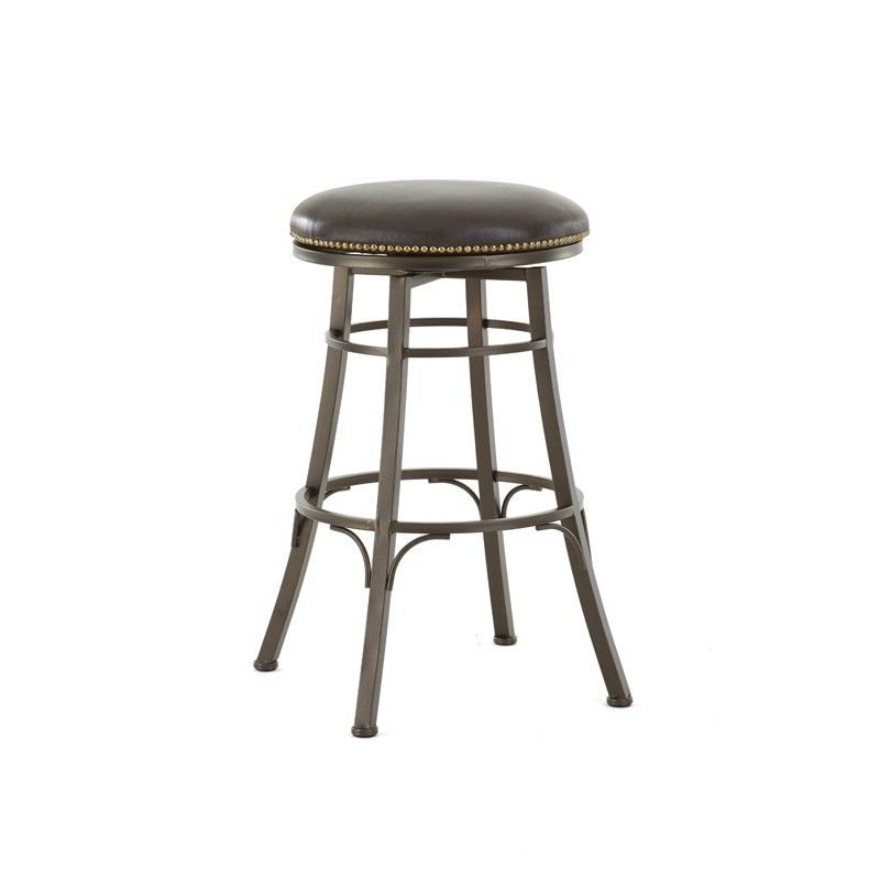 Bali Backless Metal Bar Stool with Swivel Seat