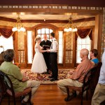 Cedar House Inn Wedding - Parlor Ceremony