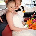 Cedar House Inn Wedding - Classic Car interior