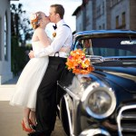 Cedar House Inn Wedding - Kiss Classic Car