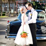 Cedar House Inn Wedding - Classic Car