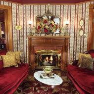 Cedar House Inn - Wedding Venue - Parlor Fireplace