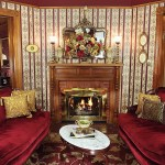 Cedar House Inn - Wedding Venue - Parlor Fireplace