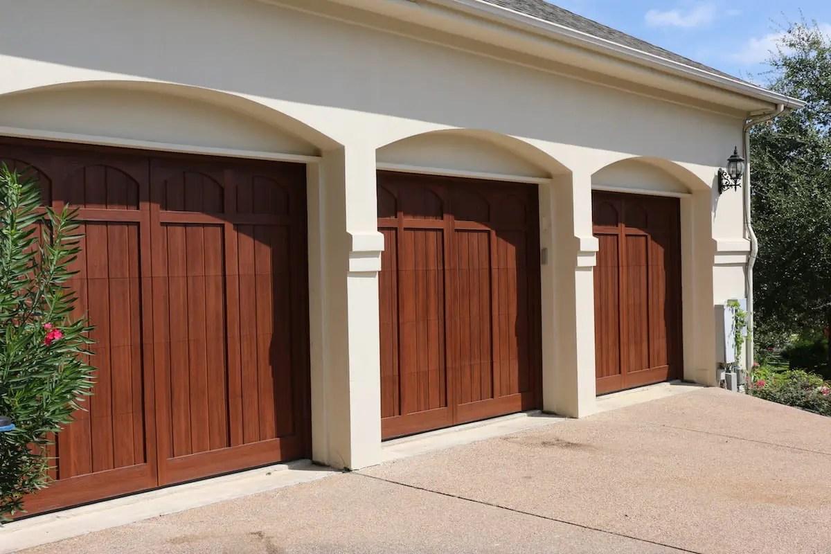 Custom Wood Free Garage Door in Austin TX
