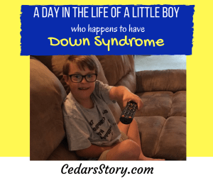 a day in the life of a little boy with Down Syndrome