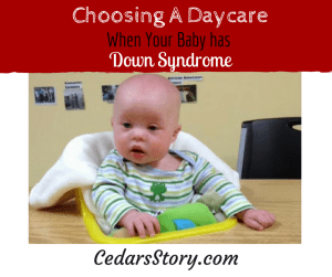 Daycare Down Syndrome