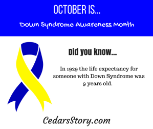 October Down Syndrome Awareness Facts Day #10