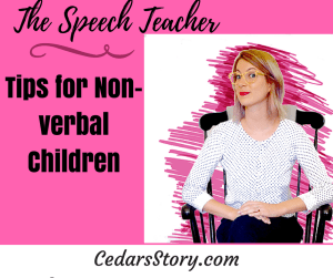 tips for speech therapy with non verbal kids