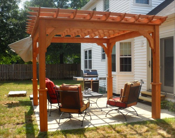 Customer' - 10' X Treated Pine Deluxe 4-beam Pergola