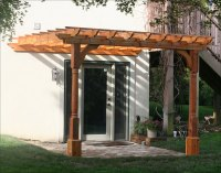 Customer's Photo - 10' x 10' Cedar 2 Beam Wall Mount Pergola